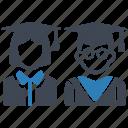 education, graduation, mortar board, students icon