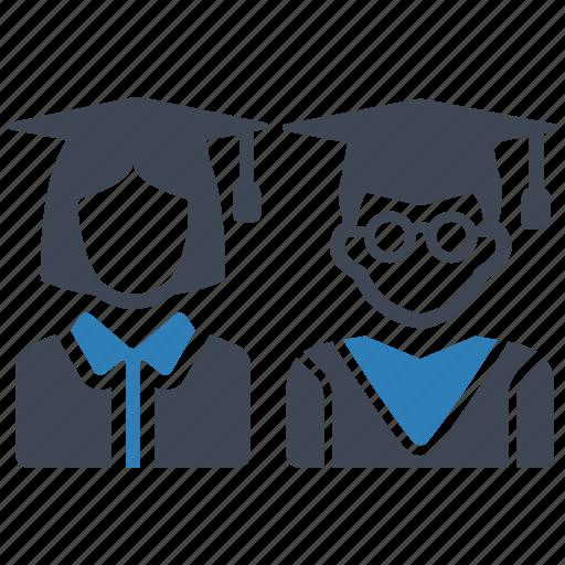 education, graduation, students icon