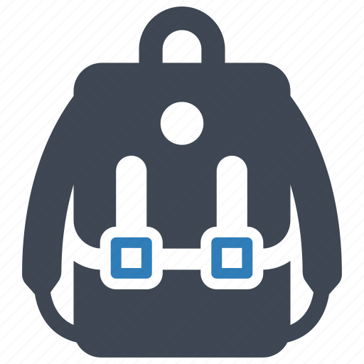camping, education, school bag icon