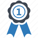 achievement, award, first place, ribbon icon