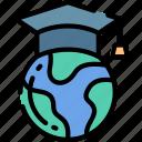 education, globe, smart, teaching, world icon