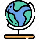 earth, education, geography, globe, world icon