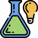 bright, education, ideas, light bulb, science, smart icon