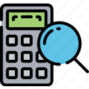 calculator, education, math, math research numbers, research, search icon