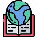 education, global, goals, lesson, reading, teacher icon