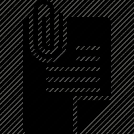 attach, clip, document, files, note, paper, paperclip icon