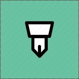 fountain pen, ink pen, pen nib, pen tip, write tool, writing icon