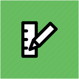 drafting tools, drawing tools, geometrical tools, measuring tools, pencil, ruler, scale icon