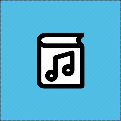 audio literature, audiobook, audiobook concept, ebook, music book icon