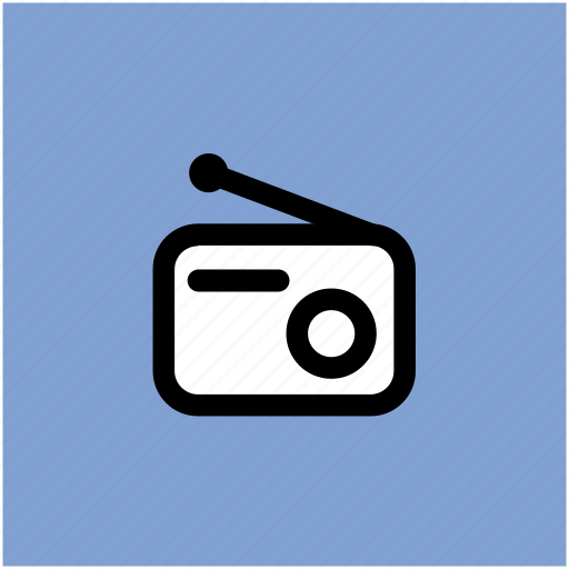 radio, radio set, transmit, tuner, wireless communication icon