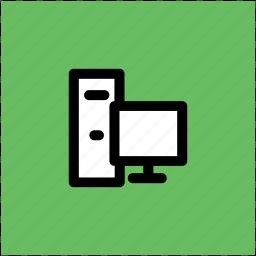 computer, desktop, desktop computer, home computer, pc, personal computer icon