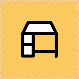 bureau, desk drawer, furniture, office desk, office material, study desk icon