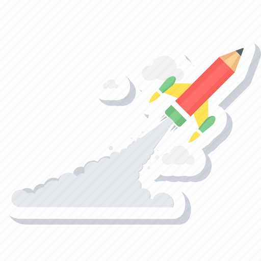 adventure, launch, rocket, space, spaceship, startup, summer icon