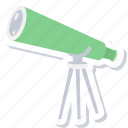 astronomy, telescope icon