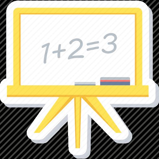 blackboard, board, calculation, class board, education, maths icon