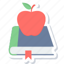 education, apple, book, notebook