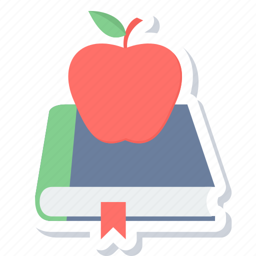 apple, book, education, notebook icon