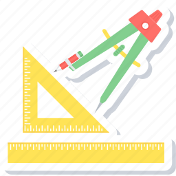 draw, drawing, geometry, pen, pencil, tool icon