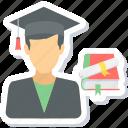 boy, graduate, graduation, male, student