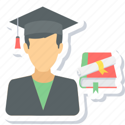 boy, graduate, graduation, male, student icon