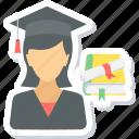 girl, graduate, female, graduation, student