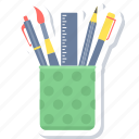 box, pencil, draw, drawing, geometry, pen