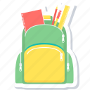 bag, school, backpack, learning