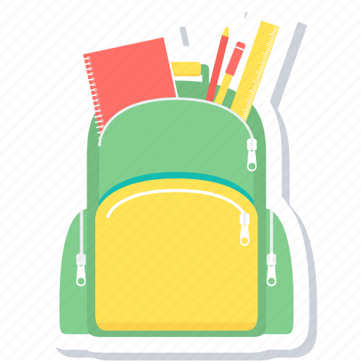 backpack, bag, learning, school icon