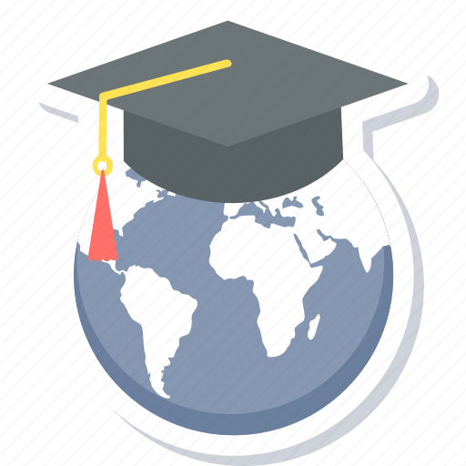 distance, distant, education, global, internet, learning, world icon