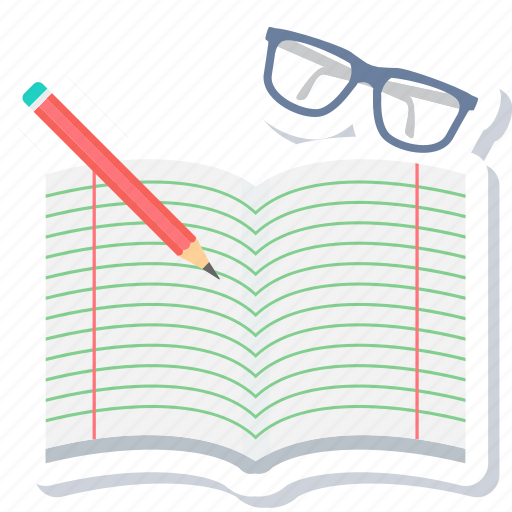 note, notebook, notepad, spects, text, write, writing icon