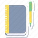 book, learning, note, notebook, reading, study icon