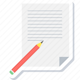 edit, note, paper, pencil, sheet, write, writing icon