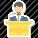 speech, boy, male, message, podium, student