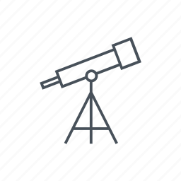 education, observation, space, telescope, telescopes, tool, tools icon