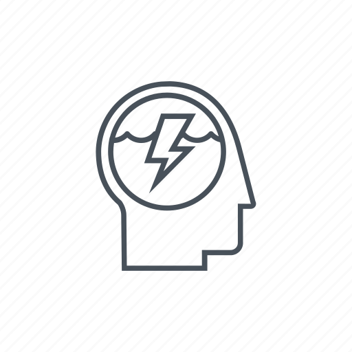 creativity, electricity, lightning, thinking, thunderbolt, user icon