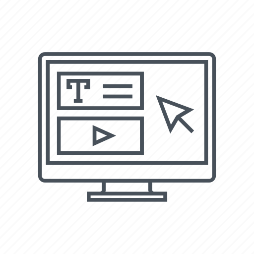 computer, distance education, graduation, internet, online education, tutorial icon