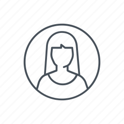 avatar, female, person, profile, student, woman, worker icon