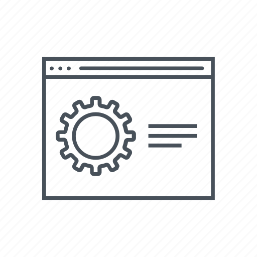 configuration, configurations, gear, options, web icon