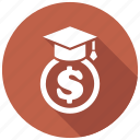 education, scholarship, tuition icon