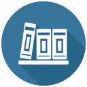 bookcase, books, bookshelf icon