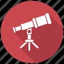astronomy, space, telescope icon