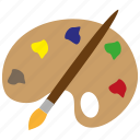art, color, design, drawing, paint, palette, pencil icon