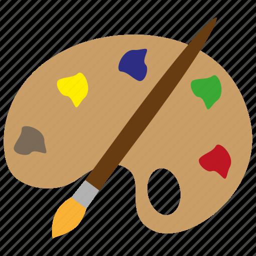art, color, design, drawing, paint, palette, pencil icon
