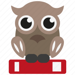 bird, book, education, knowledge, learn, owl, study icon