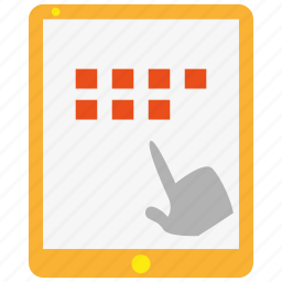 apps, device, hand, ipad, screen, tablet, touch icon