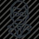 avatar, male, profile, teacher icon