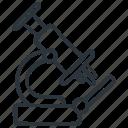 examination, experiment, microscope, research icon