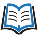 book, books, education, knowledge, learning, school, study icon