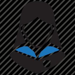 avatar, education, female, girl, schoolgirl, student, user icon