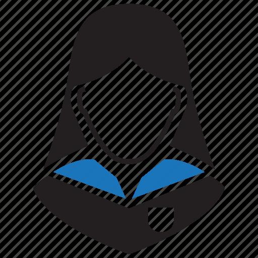 avatar, schoolgirl, student icon